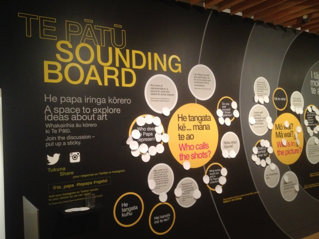 Bilingual Sounding Board in the Arts Studio, Te Papa, 2015