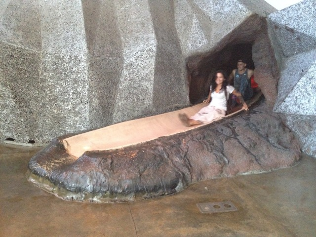 Lava slide, Bishop Museum, Hawai'i, 2015