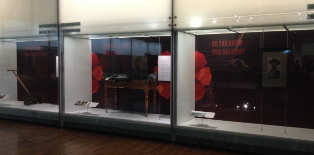 Love and Sorrow exhibition teaser cases, Melbourne Museum, 2015