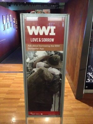 Love and Sorrow entrance panel, Melbourne Museum, 2015
