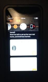 Lil Mazkenzie screen on the Storyteller app, Melbourne Museum, 2015