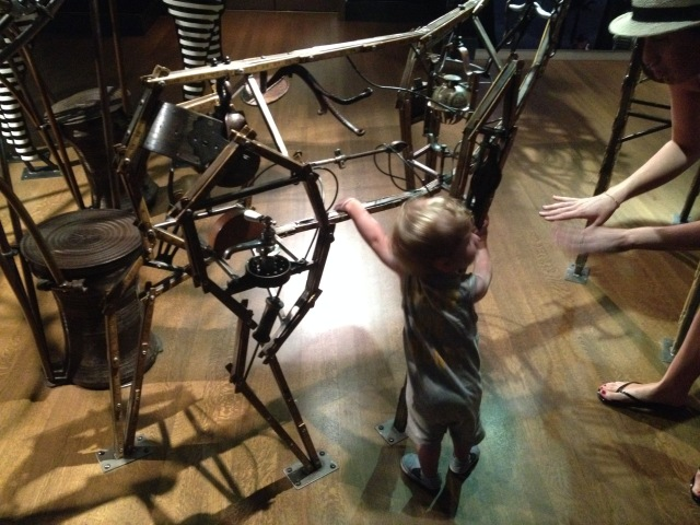 A boy in Noah's Ark, Skirball, LA, 2015