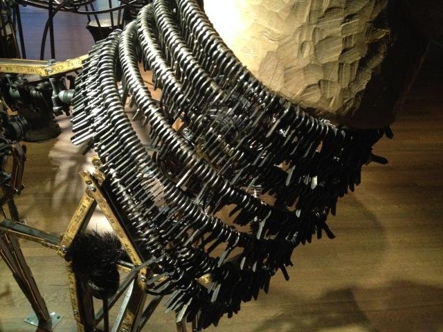 Deer with neck made of keys, Noah's Ark, Skirball, LA, 2015