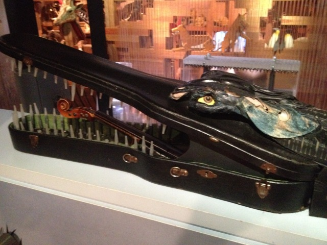 Crocodile made from a violin case, Noah's Ark, Skirball, LA, 2015