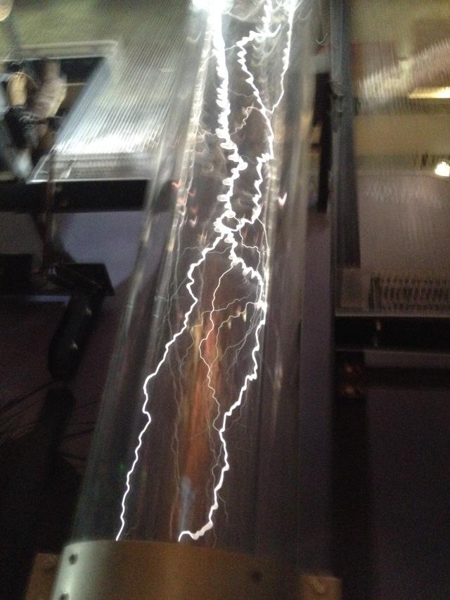 Making lightning, Noah's Ark, Skirball, LA, 2015