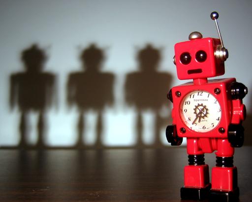 Robot Noir - Red Robot 4, by J L Watkins (CC BY-NC 2.0)