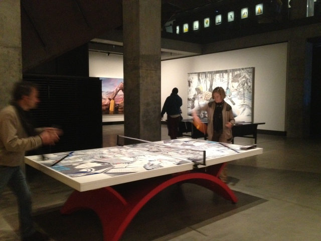 Ping pong table at MONA, 2012
