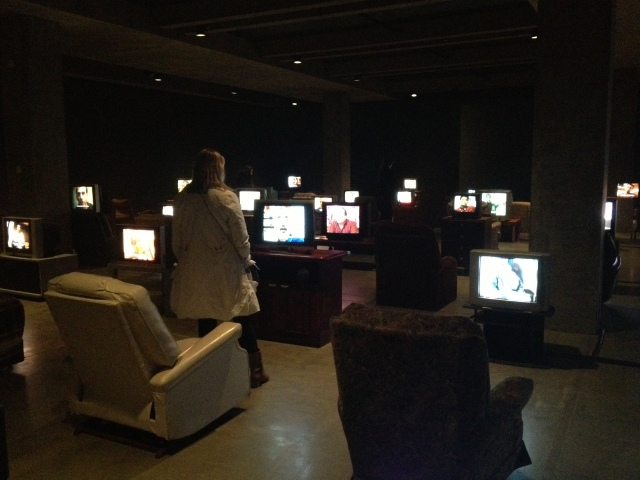 Multi-television exhibit, MONA, 2012
