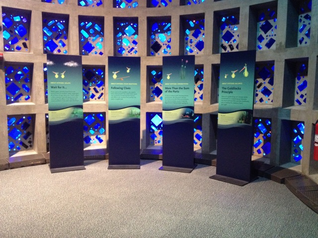 Interpretive panels, Connected Worlds, New York Hall of Science, 2015