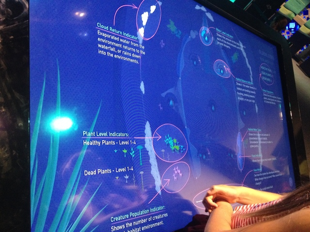 Overview screen, Connected Worlds, New York Hall of Science, 2015