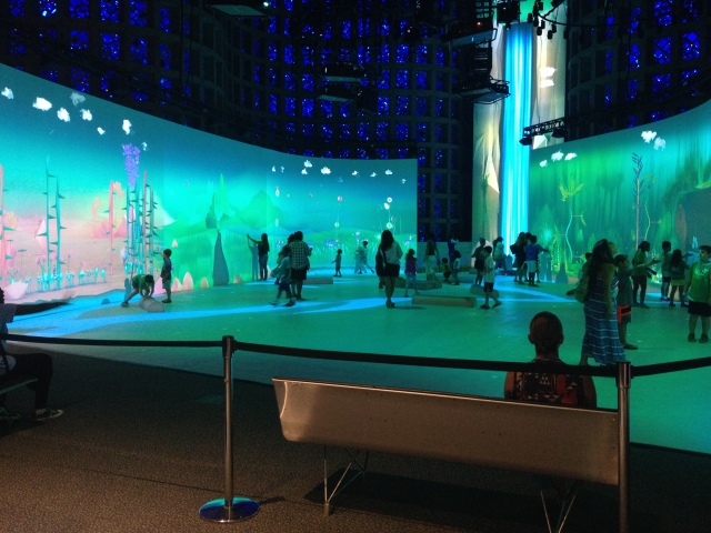 Cooperative play, Connected Worlds, New York Hall of Science, 2015