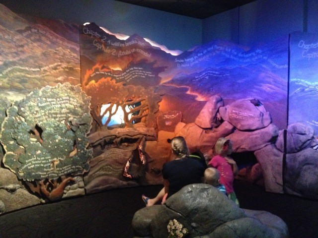 Wildfire Season story room, Coast to Cactus, San Diego Natural History Museum, 2015