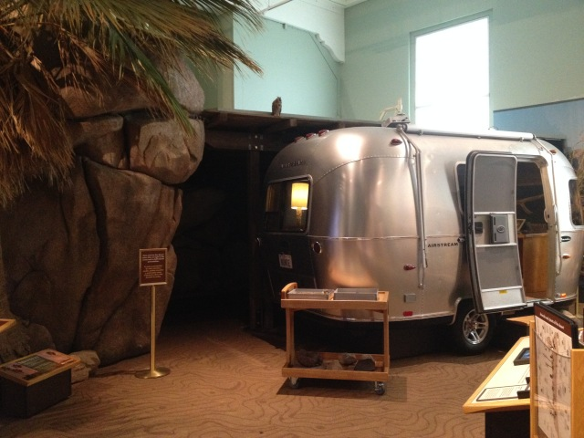 Airstream Bambi camper van in Coast to Cactus, San Diego Museum of Natural History, 2015